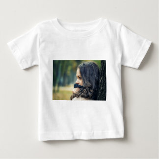 girl-looking-away baby T-Shirt