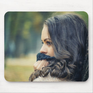 girl-looking-away mouse pad