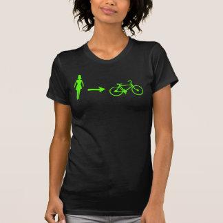girl meets bike logo front, .com back shirt