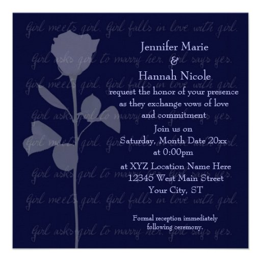 Girl Meets Girl Personalized Invites