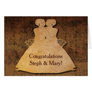 Girl Meets Girl Wedding Card for Lesbian Brides