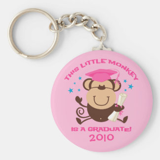 Girl Monkey Graduate Key Ring