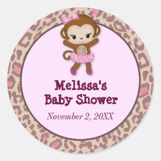 GIRL MONKEY Tu Tu Cute Baby Shower sticker TTC #6