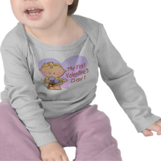 Girl My 1st Valentine's Day Infant Long Sleeve T-S T-shirts
