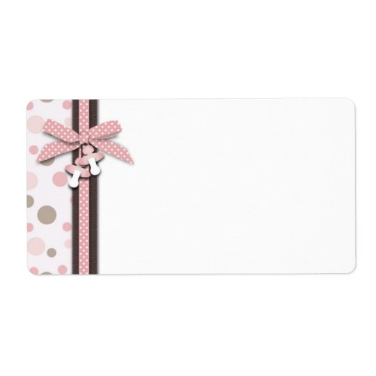 Girl Name Tag Shipping Label