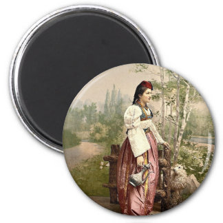 Girl of Sarajevo, Bosnia, Austro-Hungary classic P Magnet
