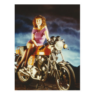 Girl On A Motorcycle Gifts Postcard