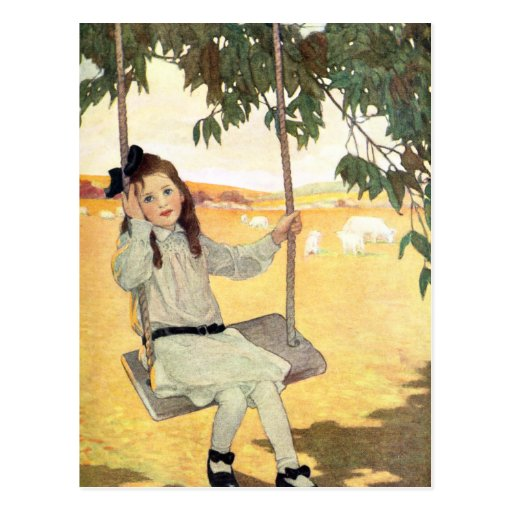 Girl on a Swing Post Cards