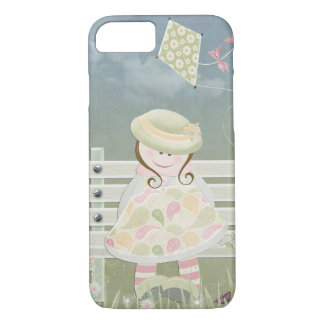 girl on bench with kite iPhone 8/7 case