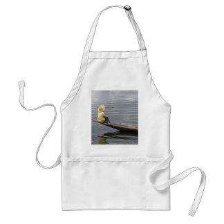 Girl on Boat in Inle Lake Standard Apron