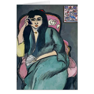 Girl on Cell Phone, MATISSE STYLE Card
