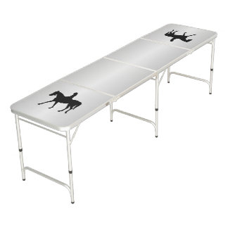 Girl on Horse Silver Beer Pong Table