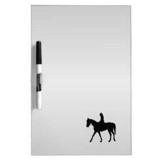 Girl on Horse Silver Dry Erase Board