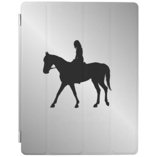 Girl on Horse Silver iPad Cover