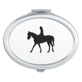 Girl on Horse Travel Mirror