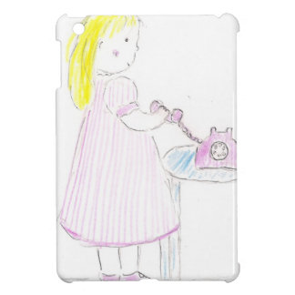 Girl on Phone Case For The iPad Mini