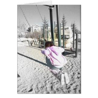 Girl on Swing Card