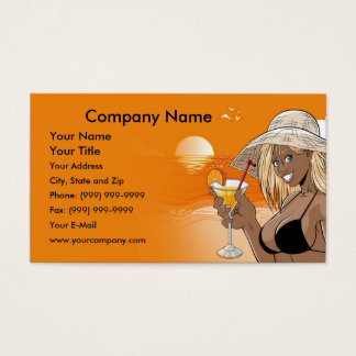 Girl on the Beach Business Card