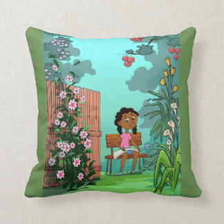 Girl on the Bench design Cushion