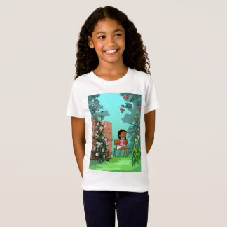 Girl on the Bench design T shirt