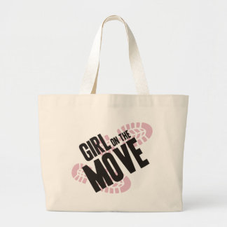 Girl on the Move Canvas Bag
