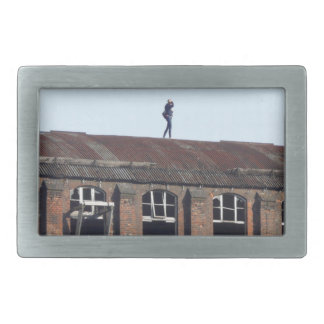 Girl on the Roof 02.2, lost places Belt Buckle