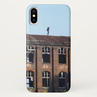 Girl on the Roof - Lost Places iPhone X Case