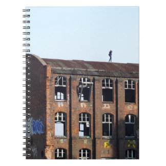 Girl on the Roof - Lost Places Notebook