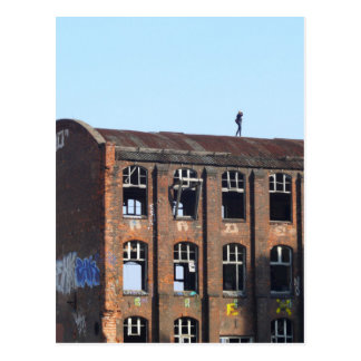 Girl on the Roof - Lost Places Postcard