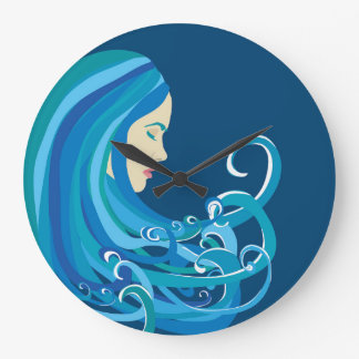 Girl on The Wave Clock