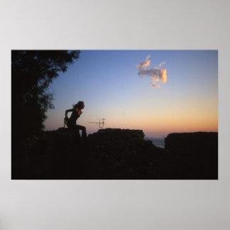 girl over horizon poster
