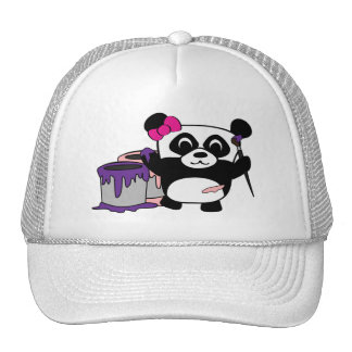 Girl Panda Painting Fun Trucker Hats