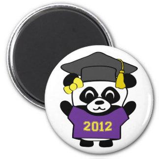 Girl Panda Purple & Gold 2012 Grad Refrigerator Magnet