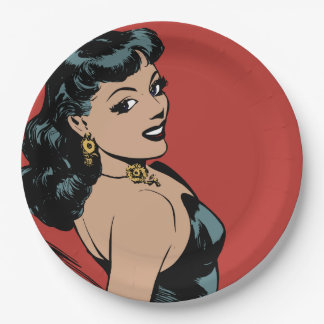 Girl Paper Plate