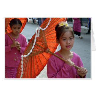 Girl & Parasol Card