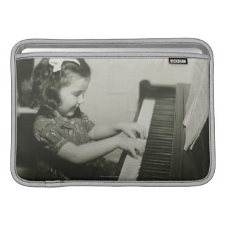 Girl Playing Piano Sleeves For MacBook Air