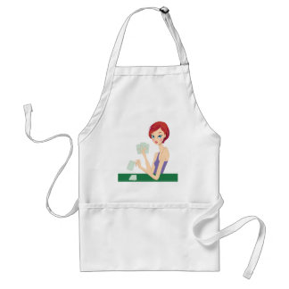 Girl playing Texas Holdem Apron