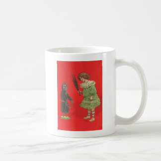 Girl Playing With Krampus Doll Coffee Mug