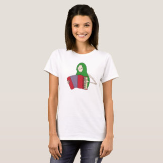 Girl Plays Accordion T-Shirt for Women