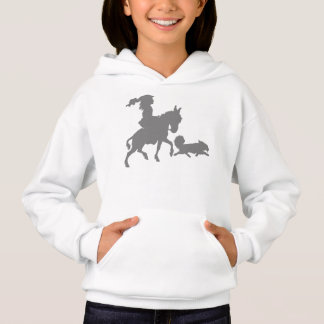 Girl Pony Horse Puppy Dog Silhouette