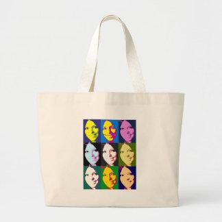 girl-popart jumbo tote bag