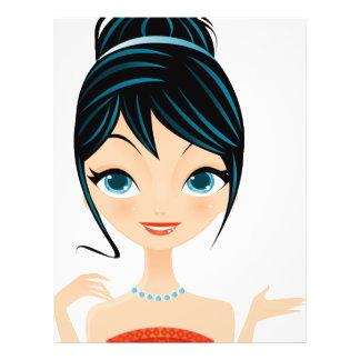 girl portrait 21.5 cm x 28 cm flyer
