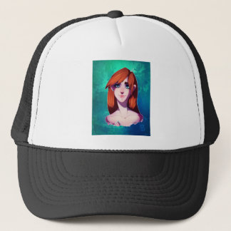 Girl Portrait Trucker Hat