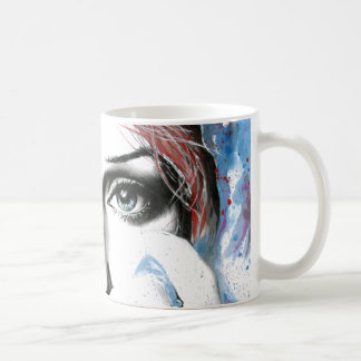 Girl portrait watercolor painting art Coffee mug