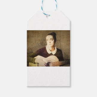 girl potrait gift tags