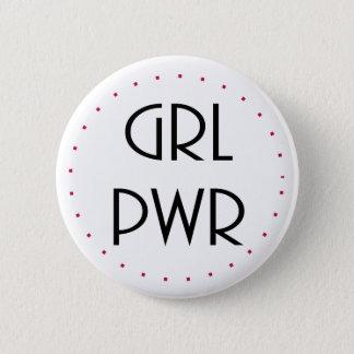 girl power 6 cm round badge