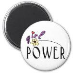 Girl Power 6 Cm Round Magnet