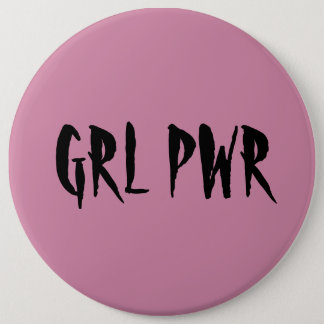 Girl Power Badge Pink