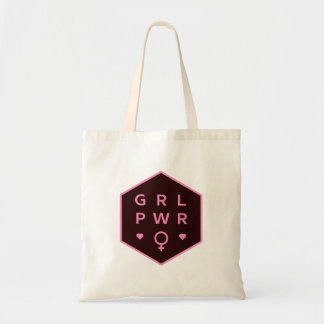 Girl Power | Black Colorful Graphic Design Tote Bag
