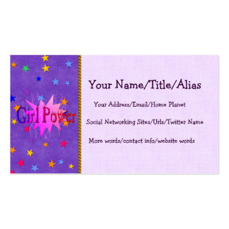 Girl Power Pack Of Standard Business Cards